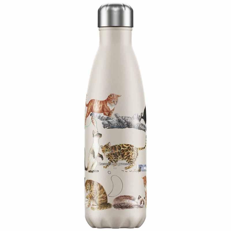 Botella de Acero Térmica Gatos 500 ml