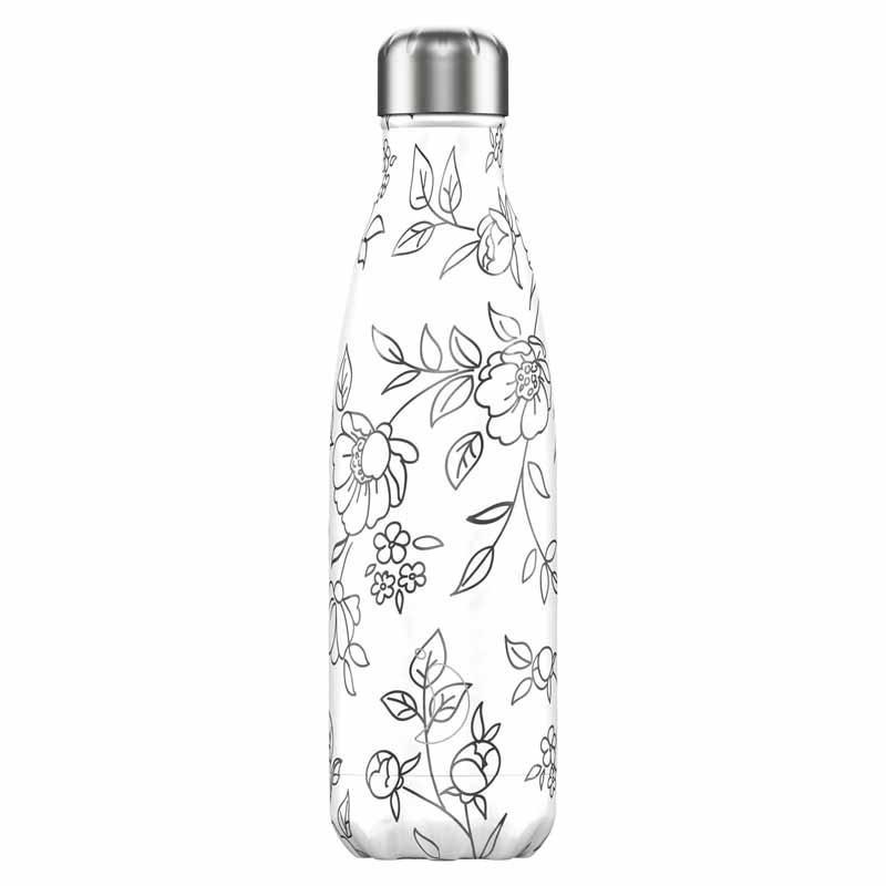 Botella de Acero Térmica Drawing Flores 500 ml