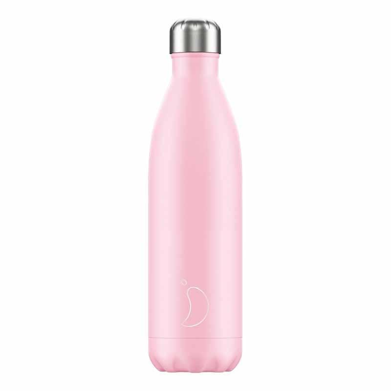 Botella de Acero Térmica Rosa Pastel