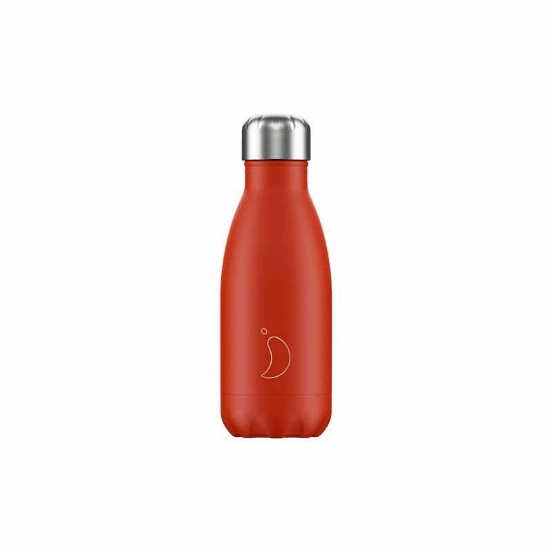 Botella de Acero Térmico Rojo Neon
