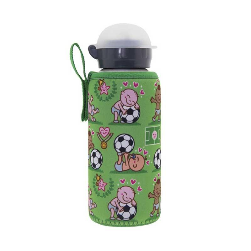 Botella Infantil de Aluminio con Funda Neopreno Pichichi