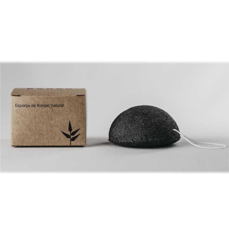Esponja Konjac Redonda con Carbón Activado