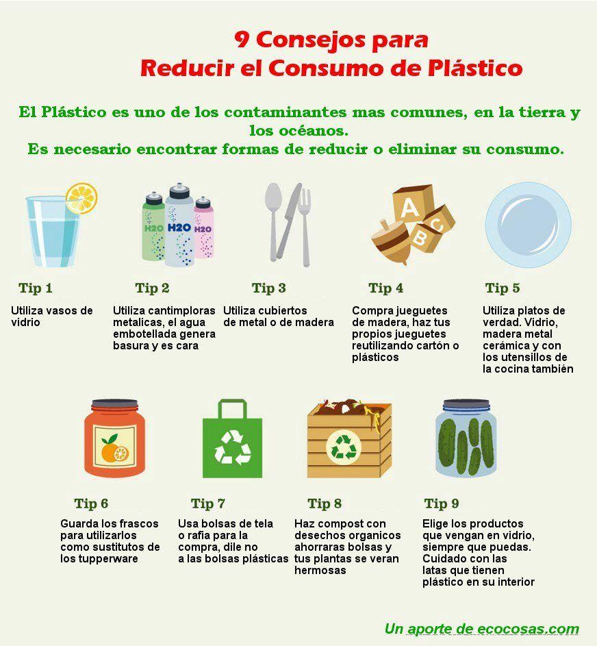 9 consejos para reducir tu consumo de plasticos